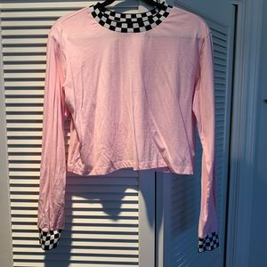 Light pink long sleeve crop